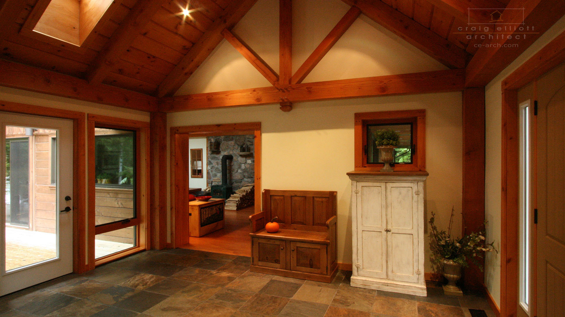 architect designed home - bancroft - entry