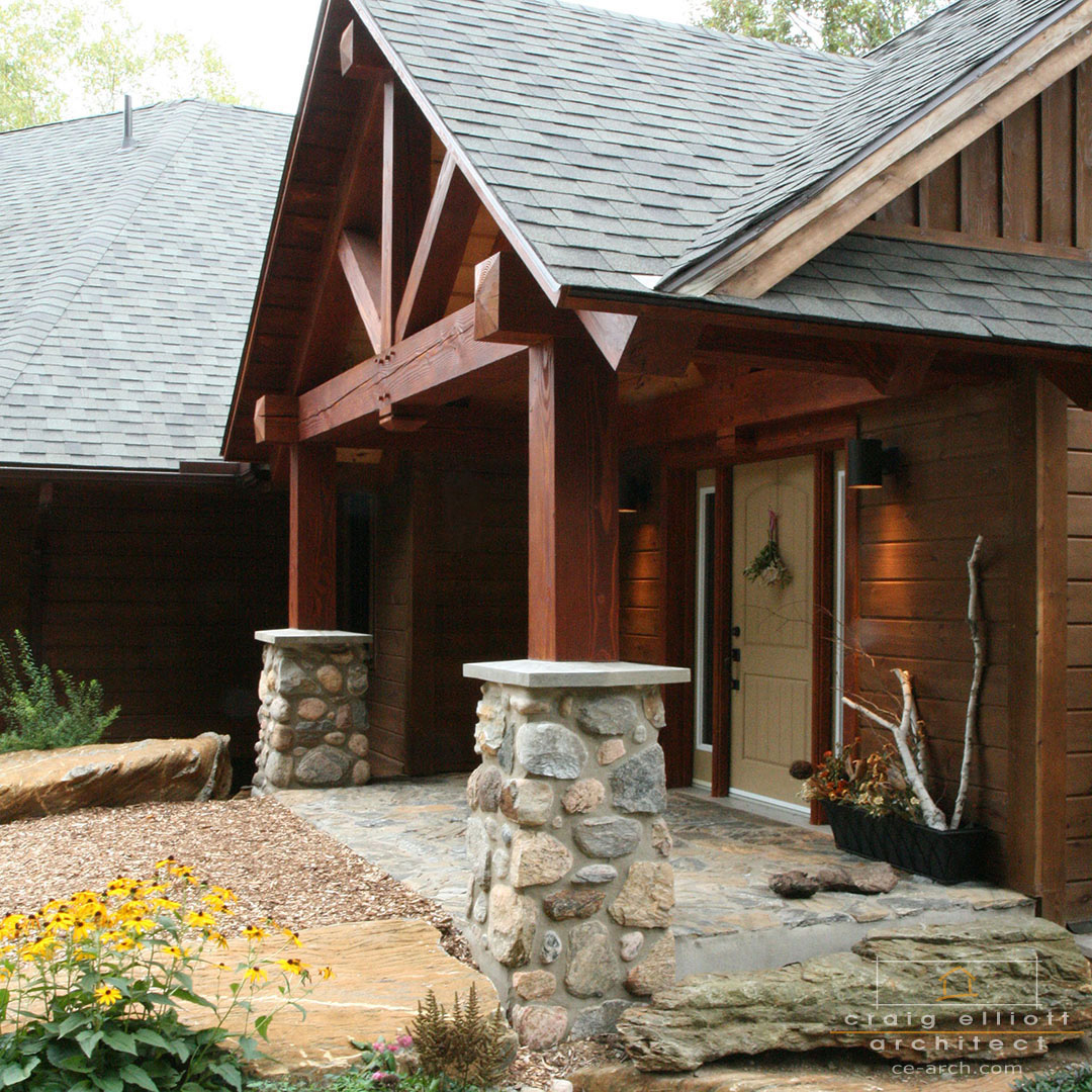 architect designed home - bancroft - porch