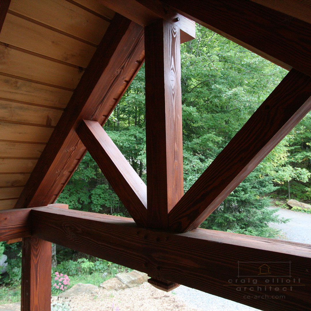architect designed home - bancroft - timber frame