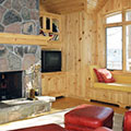 architect designed cottage - lake muskoka cottage - den