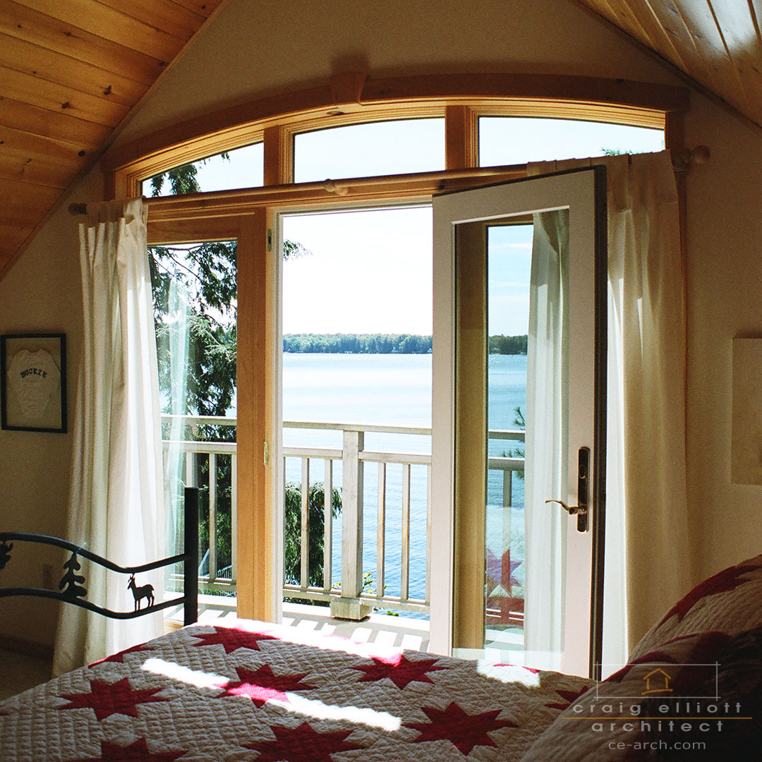 architect designed cottage - lake muskoka cottage - bedroom