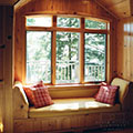 architect designed cottage - lake muskoka cottage - window seat