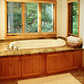 architect designed cottage - lake muskoka cottage - whirlpool
