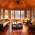 architect designed cottage - lake of bays muskoka - sunroom