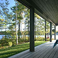 architect designed lakefront home - muskoka - side facing lake