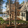 architect designed lakefront home - muskoka - bedroom overlooking lake