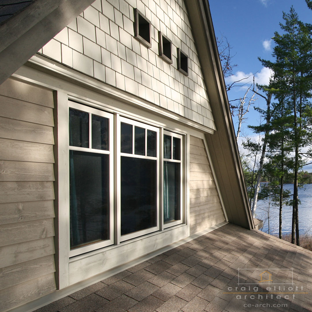 architect designed lakefront home - muskoka - gable