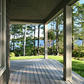 architect designed lakefront home - muskoka - lakeside at beach