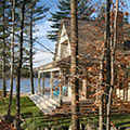 architect designed lakefront home - muskoka - at waters edge