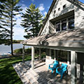 architect designed lakefront home - muskoka - lakeside covered porch