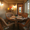 architect designed lakefront home - muskoka - screen porch dining