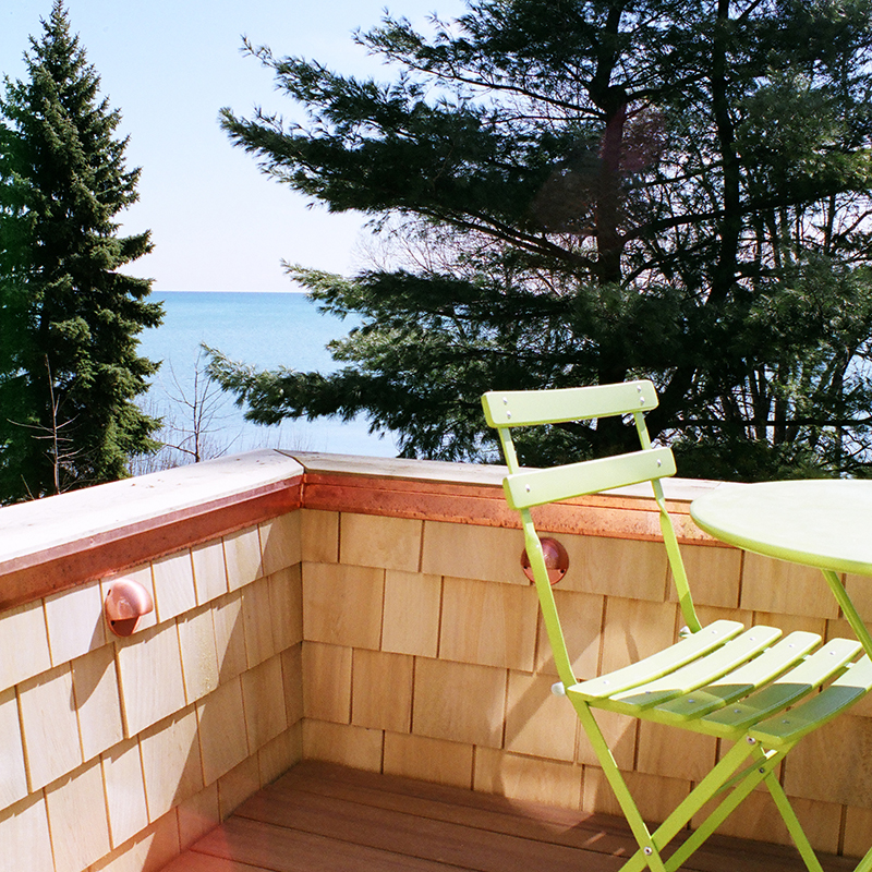 architect designed home addition - lake ontario - lakeside balcony S